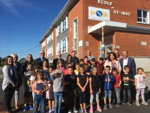 Réouverture école de Saint-Just_extérieur